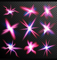red stars bursts glow light effect swirl vector image vector image