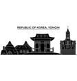 republic of korea yongin architecture city vector image