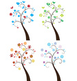season trees vector image