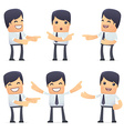 set of businessman character in different poses vector image vector image