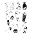 Set of Cosmetic Doodles vector image