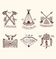 set of engraved vintage hand drawn old labels vector image vector image