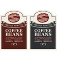 set of labels for freshly roasted coffee beans vector image vector image