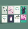 set of natural product brochure template vector image vector image