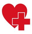sign symbol health logo hospital red cross vector image vector image