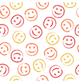 Smile face pattern vector image