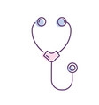 stethoscope medical tool for cardiologist sign vector image vector image