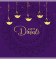 stylish diwali festival greeting design background vector image vector image