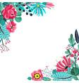 summer flowers frame floral garden flower vector image vector image
