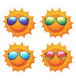 Sun with shades vector image vector image