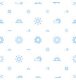 sunset icons pattern seamless white background vector image vector image