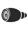 turbine black icon power and electricity symbol vector image