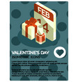 valentines day isometric poster vector image vector image