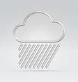 weather rain hard vector image vector image