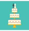 Wedding cake Isolated on background vector image vector image