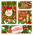 winter and christmas holidays greetings vector image vector image
