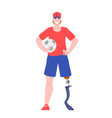 young disabled man vector image