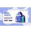 zero waste lifestyle flat vector image