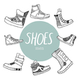 Set with mens shoes vector image
