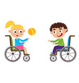 smiling little boy and girl vector image