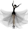 ballet girl in black vector image