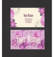 Beautiful floral business card vector image vector image