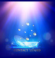 best blue contact lenses for your eyes awesome vector image vector image