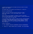 blue screen of death vector image vector image