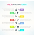 bright timeline template with icons vector image