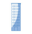 building icon tower city architecture house vector image vector image