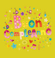 buon compleanno happy birthday in italian vector image vector image