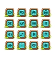 Cartoon square buttons menu set vector image vector image