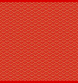 chinese seamless pattern red and golden vector image vector image