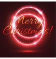 Christmas Day greeting card with red shining ring vector image vector image