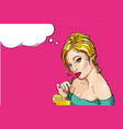 comic style of young blond vector image vector image