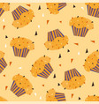 cupcakes pattern seamless print vector image