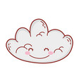 cute cloud drawing cartoon vector image