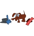 cute dog poop vector image vector image