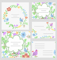 Cute invitation or wedding card vector image vector image