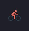 Cycling computer symbol vector image
