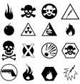 danger warning icons set vector image