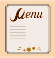 decorative menu in khokhloma style vector image vector image