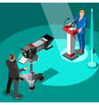 Election News Infographic Premier Isometric People vector image