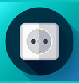 electric white socket icon flat style vector image