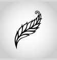 feather logo icon vector image vector image