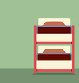 Flat Design Empty Bunk Bed vector image vector image