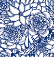 Floral hand drawn seamless pattern in tattoo style vector image vector image