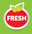 Fresh food label vector image vector image