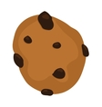 Gingerbread chocolate chip cookie isolated vector image vector image