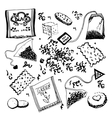 Hand Drawn Tea Doodles vector image